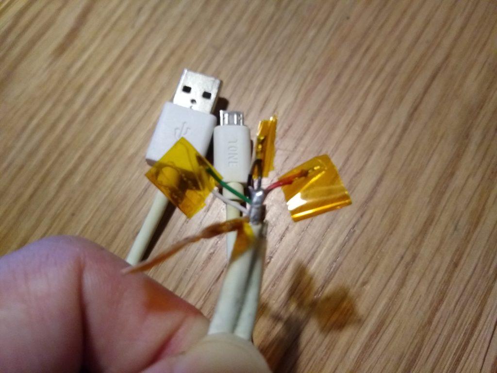 充電ケーブル加工
