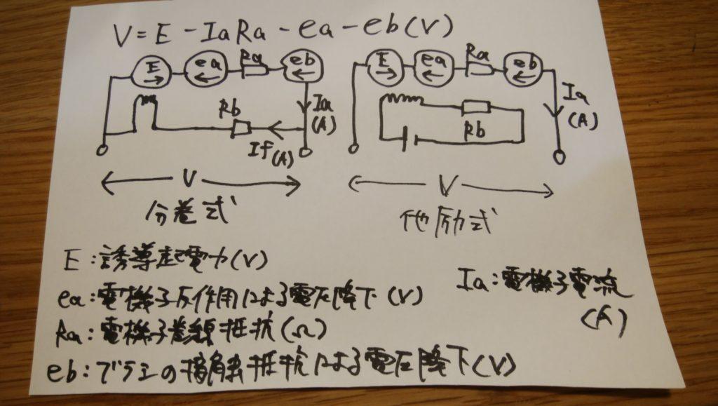 分巻式の端子電圧