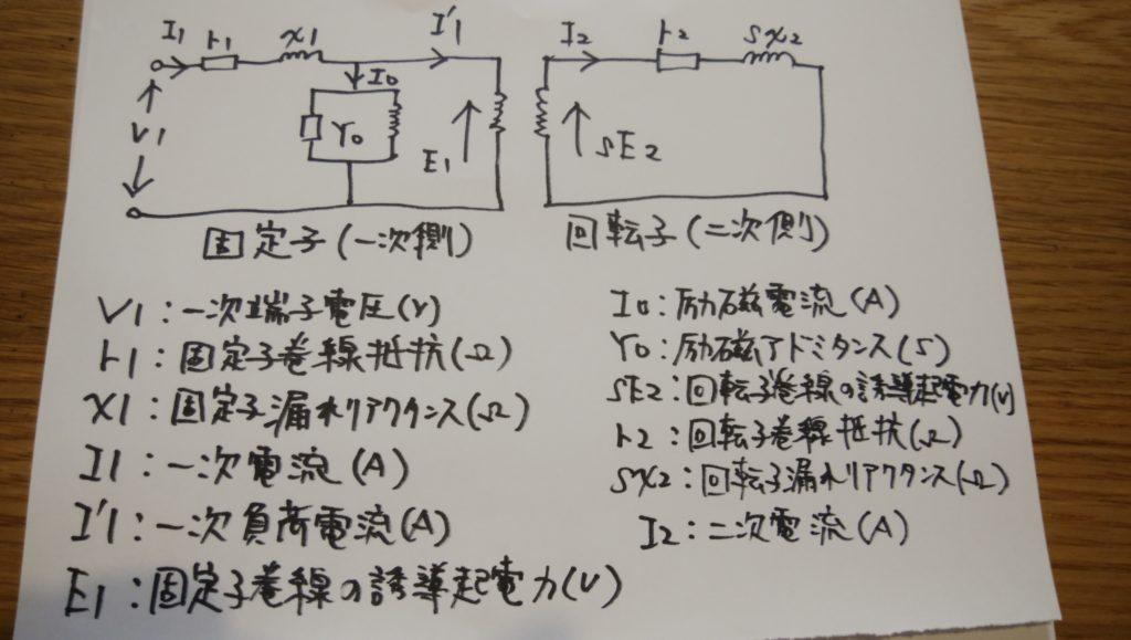 誘導電動機回路図