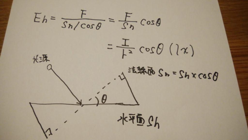 水平面照度公式