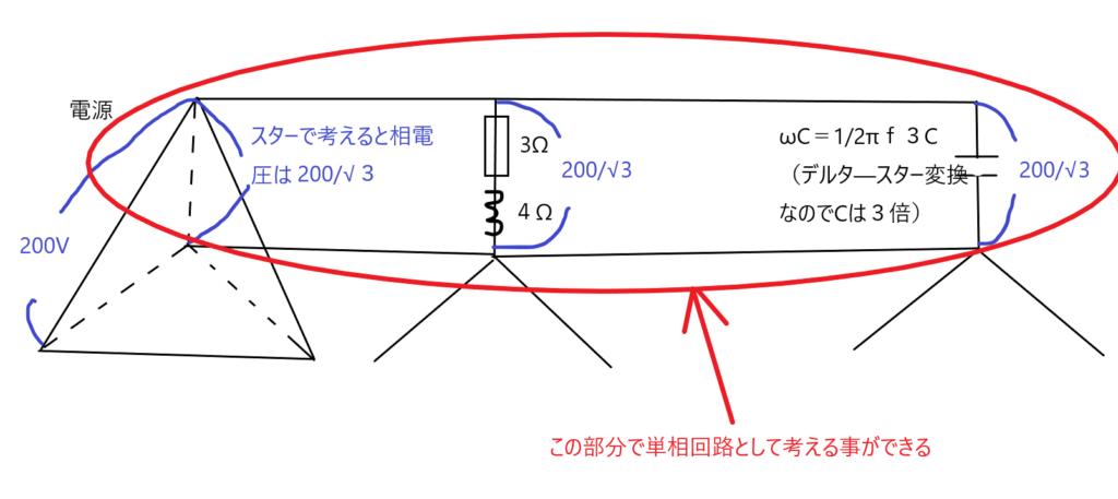コンデンサ力率改善変換回路