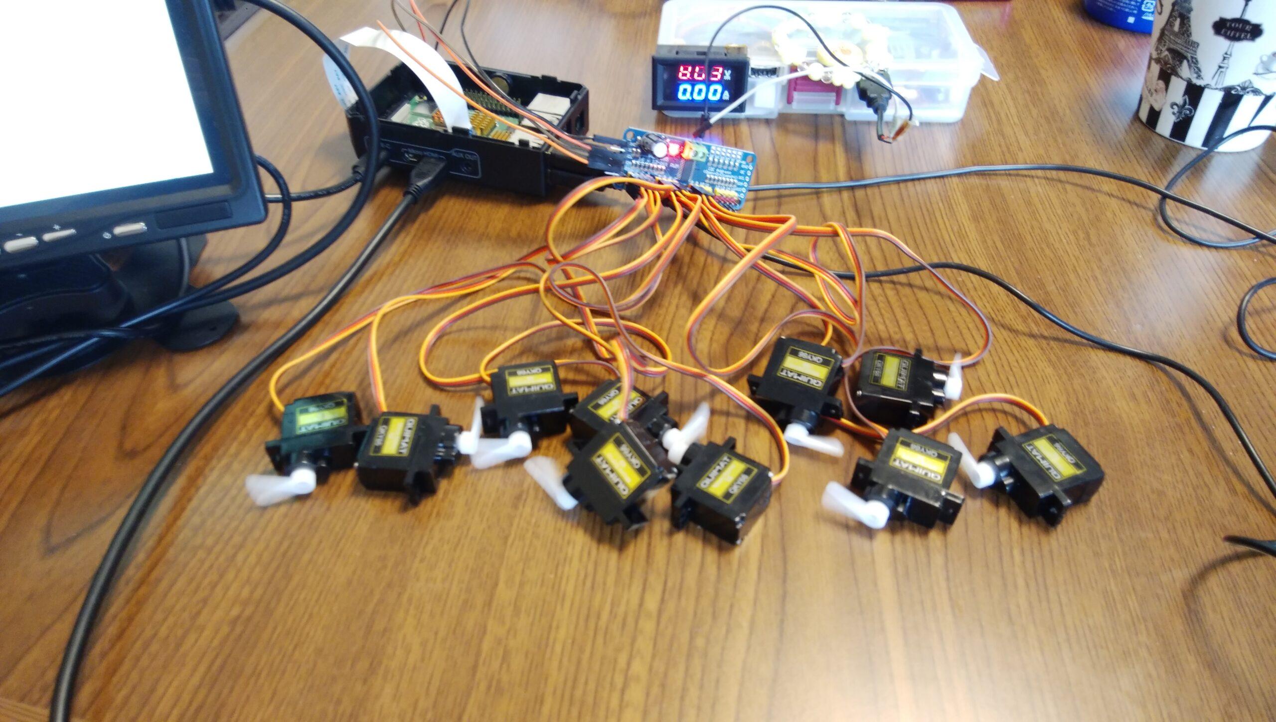 Raspberry piで2足歩行ロボットの作成①「とりあえずI2Cでサーボモーターを動かしてみる」