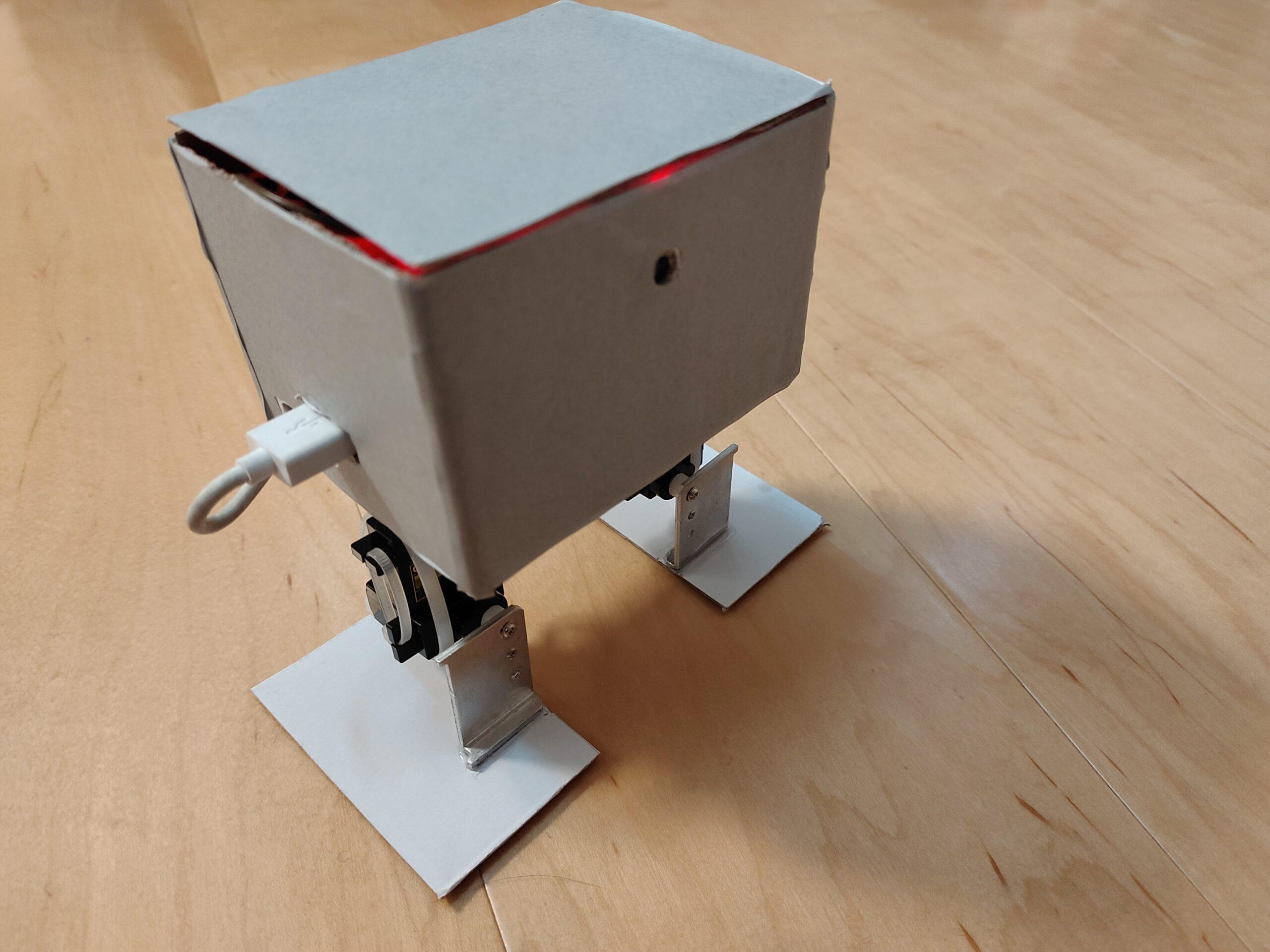 Raspberry piで2足歩行ロボットの作成⑥【完成】「ラズパイ、電源、ケーブル、サーボモータードライバの収納」