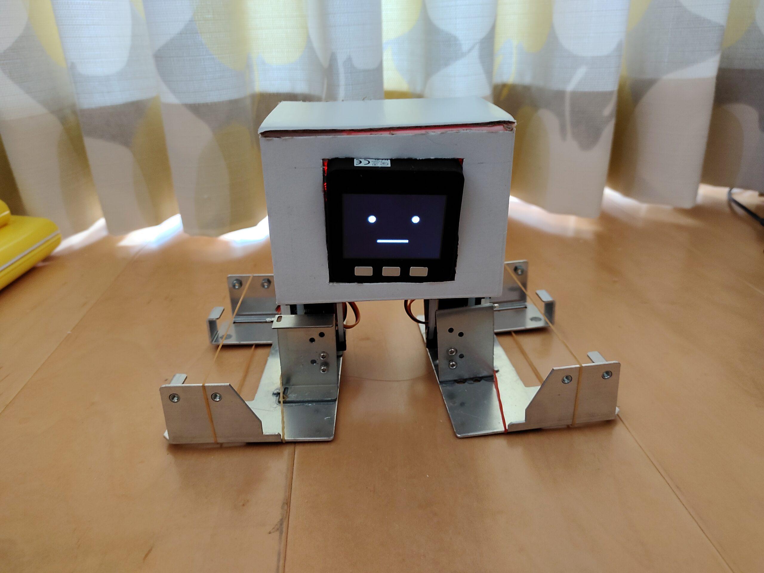 M5stackで2足歩行ロボットの作成⑦【完成】「フラッシュROMにmain.pyを格納、脳みそにハードウェア一式を入れて完成!」