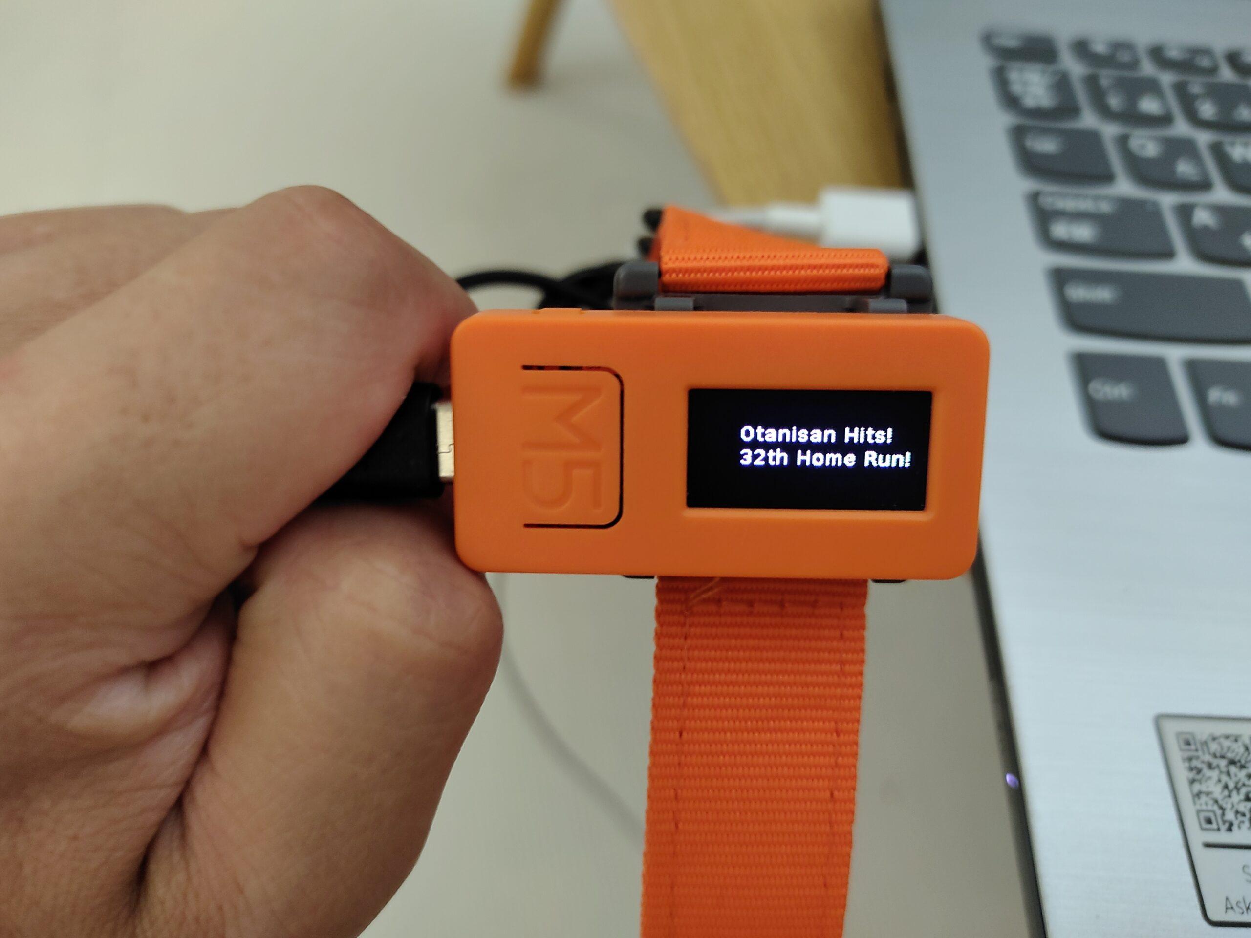 M5StickCでヌードボールペン&オオタニサンHR速報WEBスクレイピング機能付き時計の作成④「micropythonでオオタニサンHR速報WEBスクレイピング機能実装」